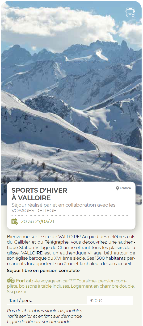 2021 VALLOIRE DELIEGE photo sjour brochure